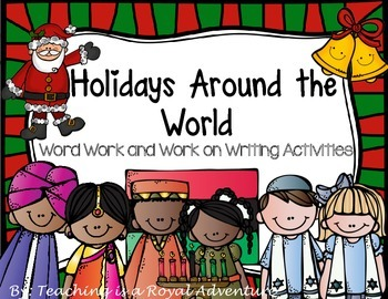 December Word Work and Work on Writing Activities