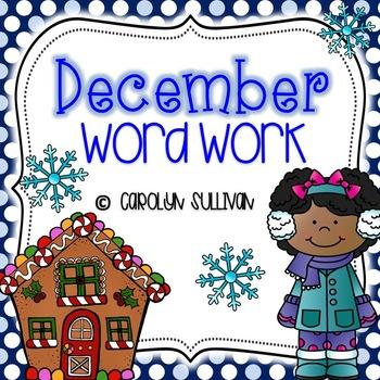 December Word Work for Kindergarten