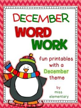 December Word Work
