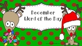 December Word of the Day (NO PREP)
