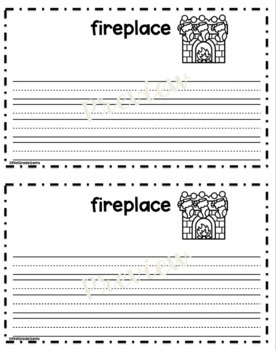 Differentiated December Words Booklet