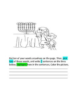 December Words Their Way Booklet  for the Class