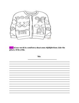 December Words Their Way Classwork Booklet