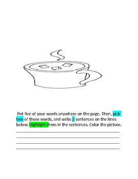 December Words Their Way Packet  for Home