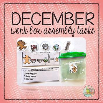 December Work Box Assembly Tasks