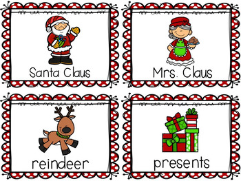 December Write the Room Activities