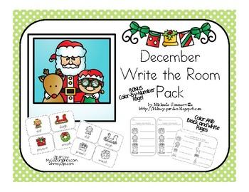 December Write the Room Pack (Christmas themed)