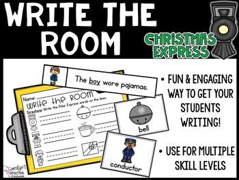December Write the Room - Polar Express Write the Room