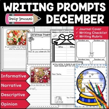 December Writing Prompts | December Writing Center | Christmas & Winter