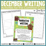 December Writing Activities Aligned to Common Core Standards