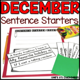 December Writing Activity: Interactive Sentence Starters