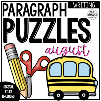 August Writing Activity: Paragraph Puzzlers