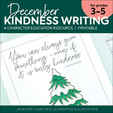 December Writing Activity | Thankful for Kindness Writing | Winter Writing