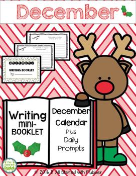 December Writing Calendar and Booklet (Non-editable Version)