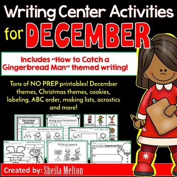 December Writing Center NO PREP Printables