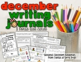 December Writing Journal and Task Cards