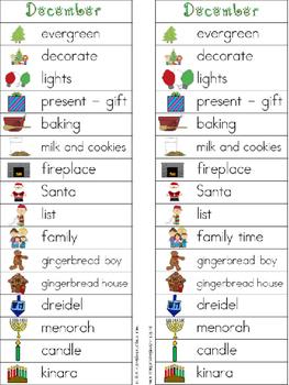 December Writing Center Tools: December Words