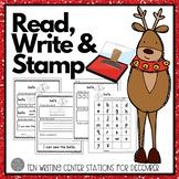 December Writing Centers: Read, Write & Stamp! Set Three