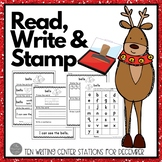 December Writing Centers: Read, Write & Stamp! Set Three