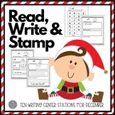 December Writing Centers: Read, Write and Stamp! Set Two