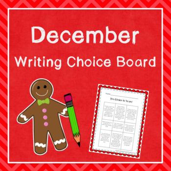 December Writing Choice Board (FREE!)
