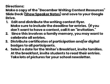 December Writing Contest
