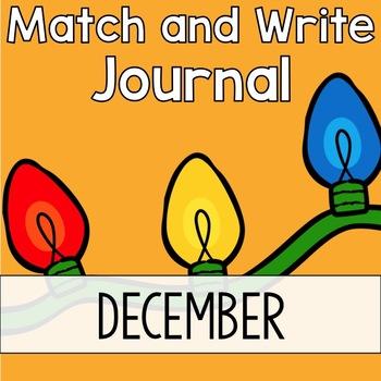 December Writing Journal: Match and Write