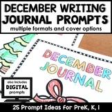 December Writing Journal Prompts for Preschool and Kindergarten