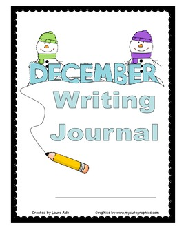 December Writing Journal for 1st and 2nd grade CCSS