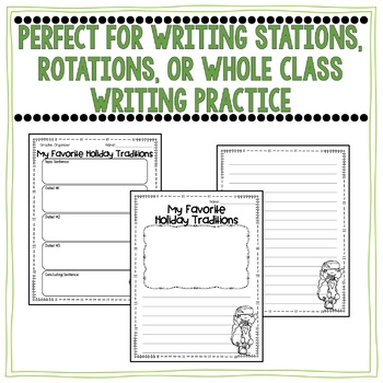 December Writing Organizers and Prompt Pages