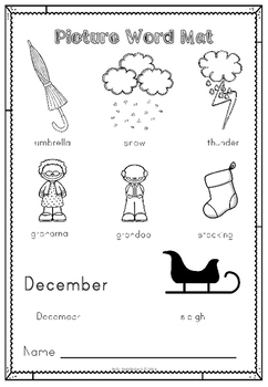 December Writing Pack for Emergent Readers and Writers (EYFS/KS1)