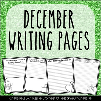 December Writing Pages