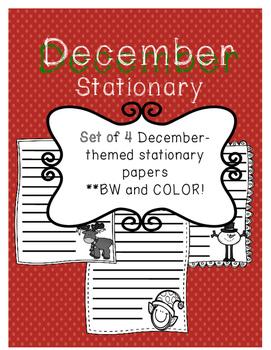 December Writing Paper