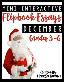 December Writing Projects for 3rd, 4th, 5th, and 6th grades CCSS aligned