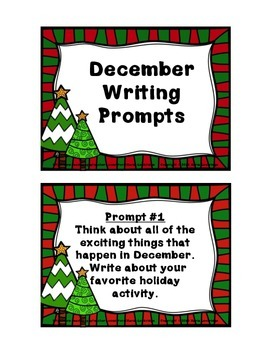 December Writing Prompt Cards