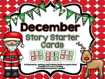 Christmas Narrative Story Starter Set: Character, Problem, and Solution Cards