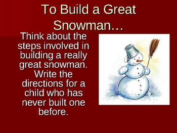 December Writing Prompt Ideas