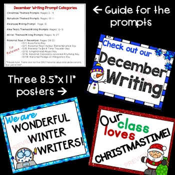December Writing Prompts *30 prompts!*