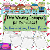 December Writing Prompts - 5 Christmas/Winter Prompts on D
