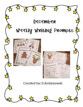 December Writing Prompts - Classroom Books for Writing Center