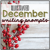 December Photo Writing Prompt Task Cards   Digital Writing