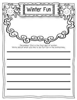 December Writing Prompts Freebies: Winter Solstice, Polar Bears, Winter Dress