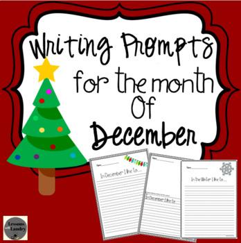 December Writing Prompts Kindergarten - 2nd Grade