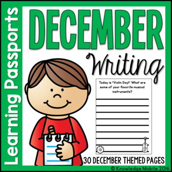 December Writing Prompts - Learning Passport