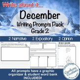 Writing Prompts for Second Graders | December Themes