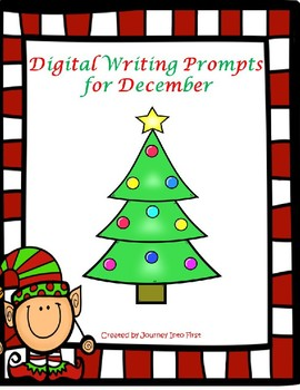 December Writing Prompts Using Google Slides