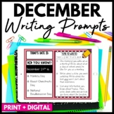 December Writing Prompts and Journal - Distance Learning