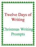December Writing Prompts for First or Second Grade