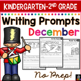 December Writing Prompts for Kindergarten to Second Grade