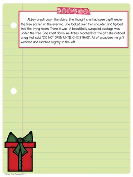 December Writing Prompts for use with Google Classroom